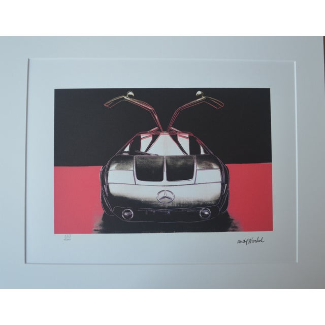 Modern Andy Warhol Mercedes Benz Print For Sale - Image 3 of 5