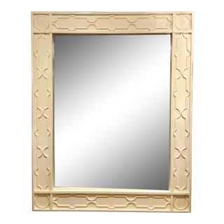 Century Furniture Large Modern Off-White Beveled Floor Mirror/Full Length Mirror For Sale