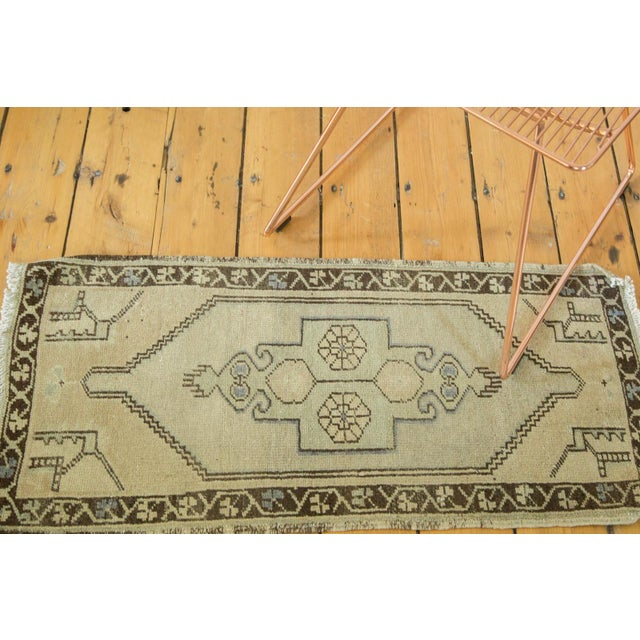 "Vintage Turkish Oushak Runner - 1'6"" x 3'2"" - Image 2 of 5"