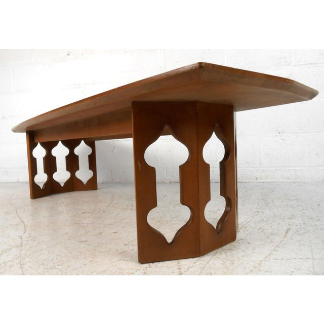 Vintage Modern Coffee Table With Sculptural Base For Sale - Image 13 of 13