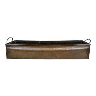 Antique Copper Brass Planter Pot Holder Rectangular Tub