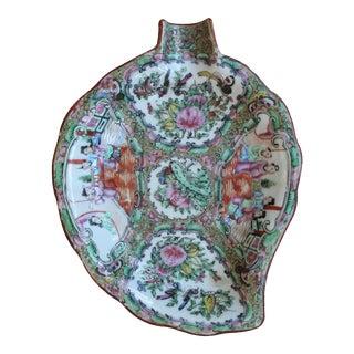 Rose Medallion Leaf Shaped Plate For Sale