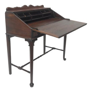 Antique Oak Drop Front Writing Desk For Sale