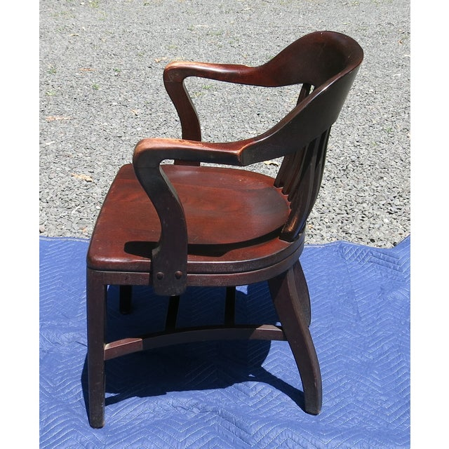 1920s 1920s Antique Bankers Chair For Sale - Image 5 of 9