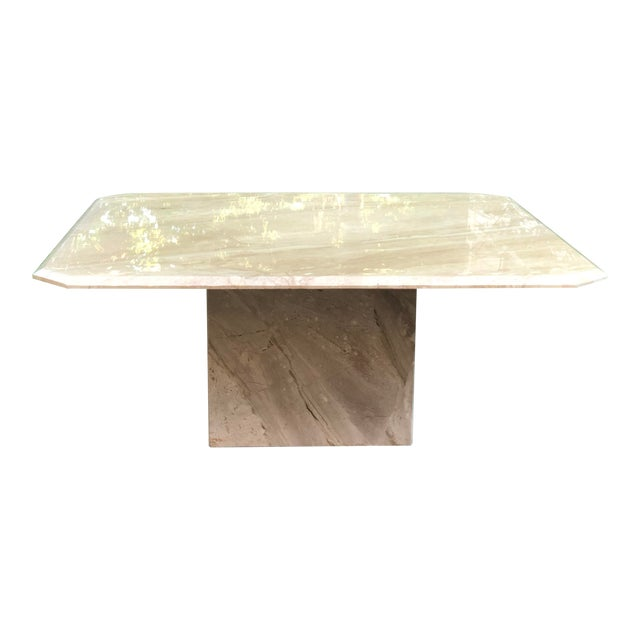 Art Deco Italian Travertine Coffee Table For Sale