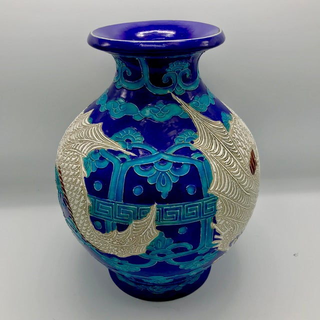 19th Century Chinese Qing Dynasty Dragon Themed Fahua Ware Vessel For Sale - Image 4 of 7