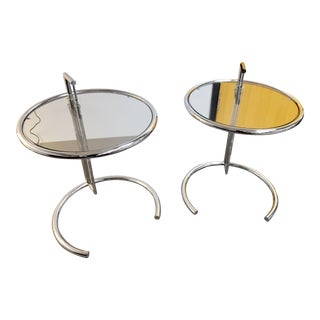 Eileen Glass Side Tables - A Pair For Sale