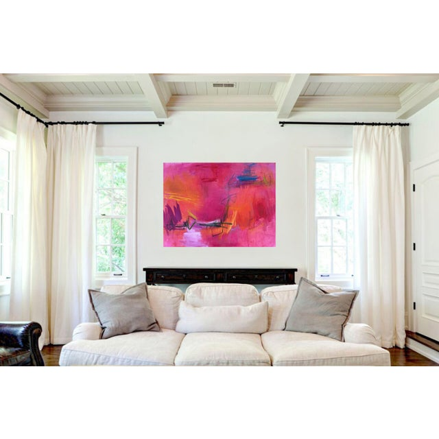 """Large Abstract Painting by Trixie Pitts """"High Road"""" - Image 5 of 6"""