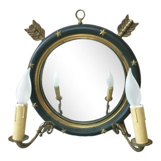French Empire-Style Mirrored Sconce Circa 1940 For Sale