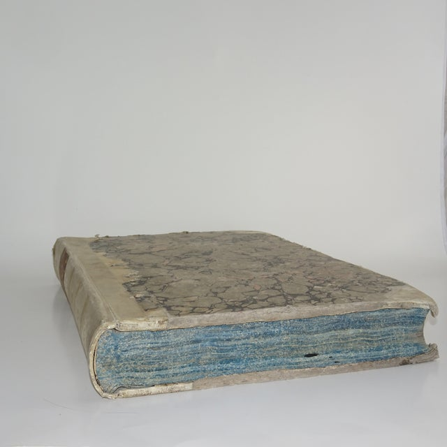 18th Century Traditional Goat SkinVellum Books - Set of 3 For Sale - Image 10 of 11