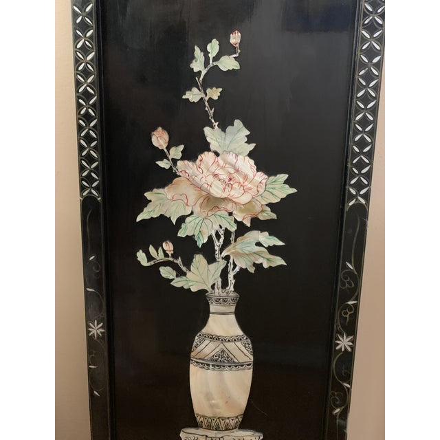 Asian Midcentury Mother of Pearl Asian Chinoiserie Wall Accent For Sale - Image 3 of 13