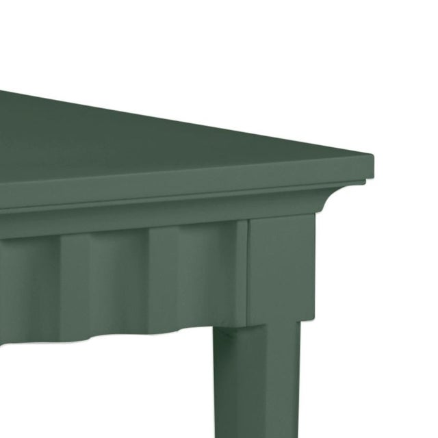 Features a carved scallop pattern design. The color is Benjamin Moore Dakota Shadow with a semi-gloss finish. Made of...