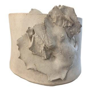 Modernist Sculptural Nudes Ceramic Planter Jardiniere For Sale