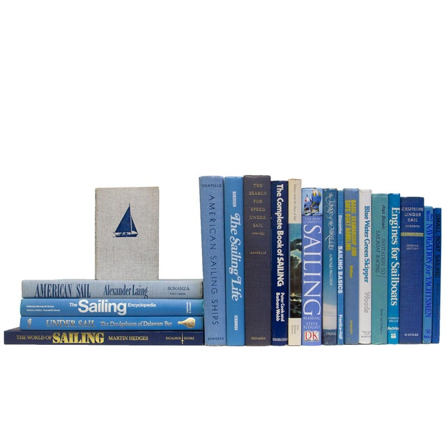 Features a blend of twenty authentic vintage and contemporary books published 1935-2005. Includes a variety of nautical...