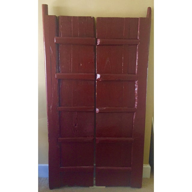 Antique Chinese Wooden Gate Doors - a Pair - Image 3 of 11