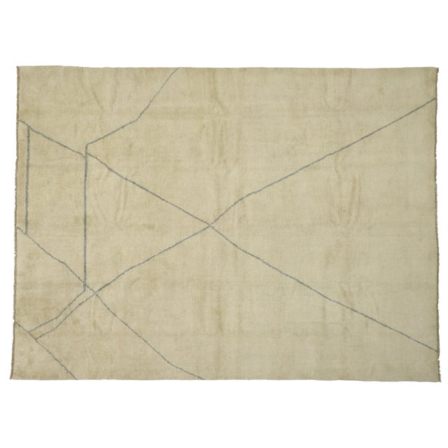 Contemporary Moroccan Area Rug With Modern Style - 10'03 X 13'07 For Sale - Image 9 of 10