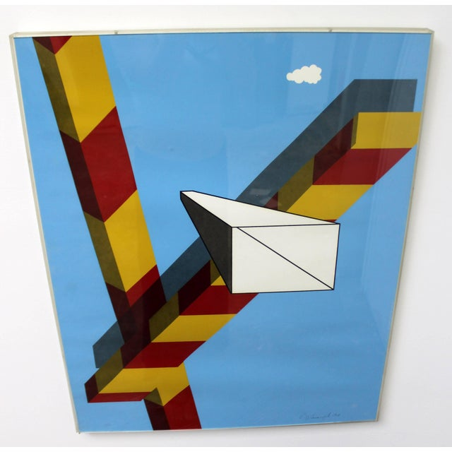 1968 Mid-Century Modern Allan d'Arcangelo Abstract Surrealist Print For Sale - Image 9 of 9