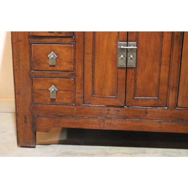 Chinese Late 19th Century Walnut Sideboard For Sale - Image 3 of 8