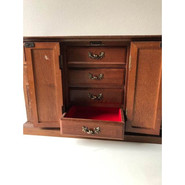 Mid Century Wooden Jewelry Box For Sale - Image 9 of 11