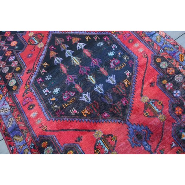 "Vintage Persian Zanjan Rug - 5'4"" x 8'10"" - Image 7 of 9"