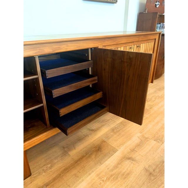 1960s Teak Norwegian Credenza With Key For Sale In Seattle - Image 6 of 13