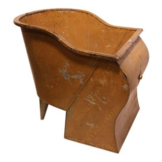 Antique American Tin Sit Bathtub For Sale
