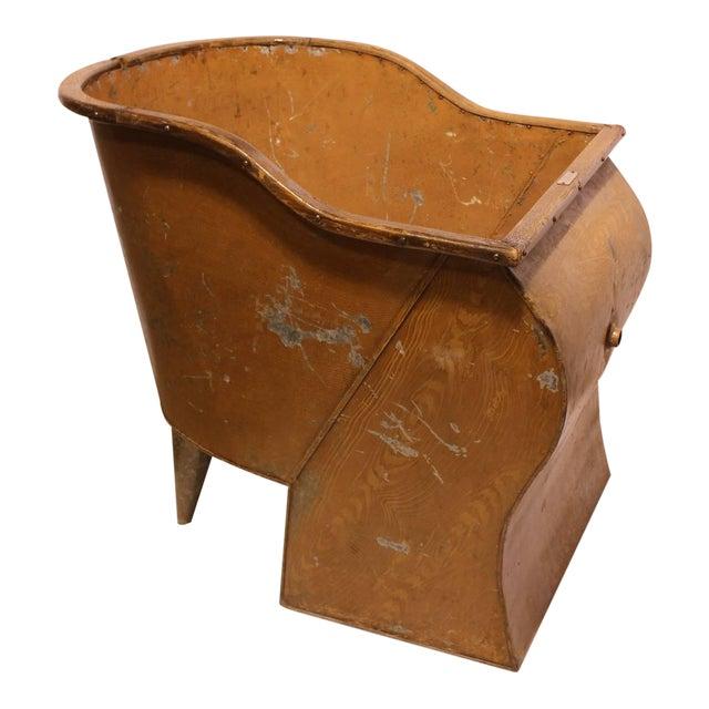 Antique American Tin Sit Bathtub For Sale