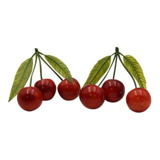 1960s Italian Alabaster Cherries - A Pair