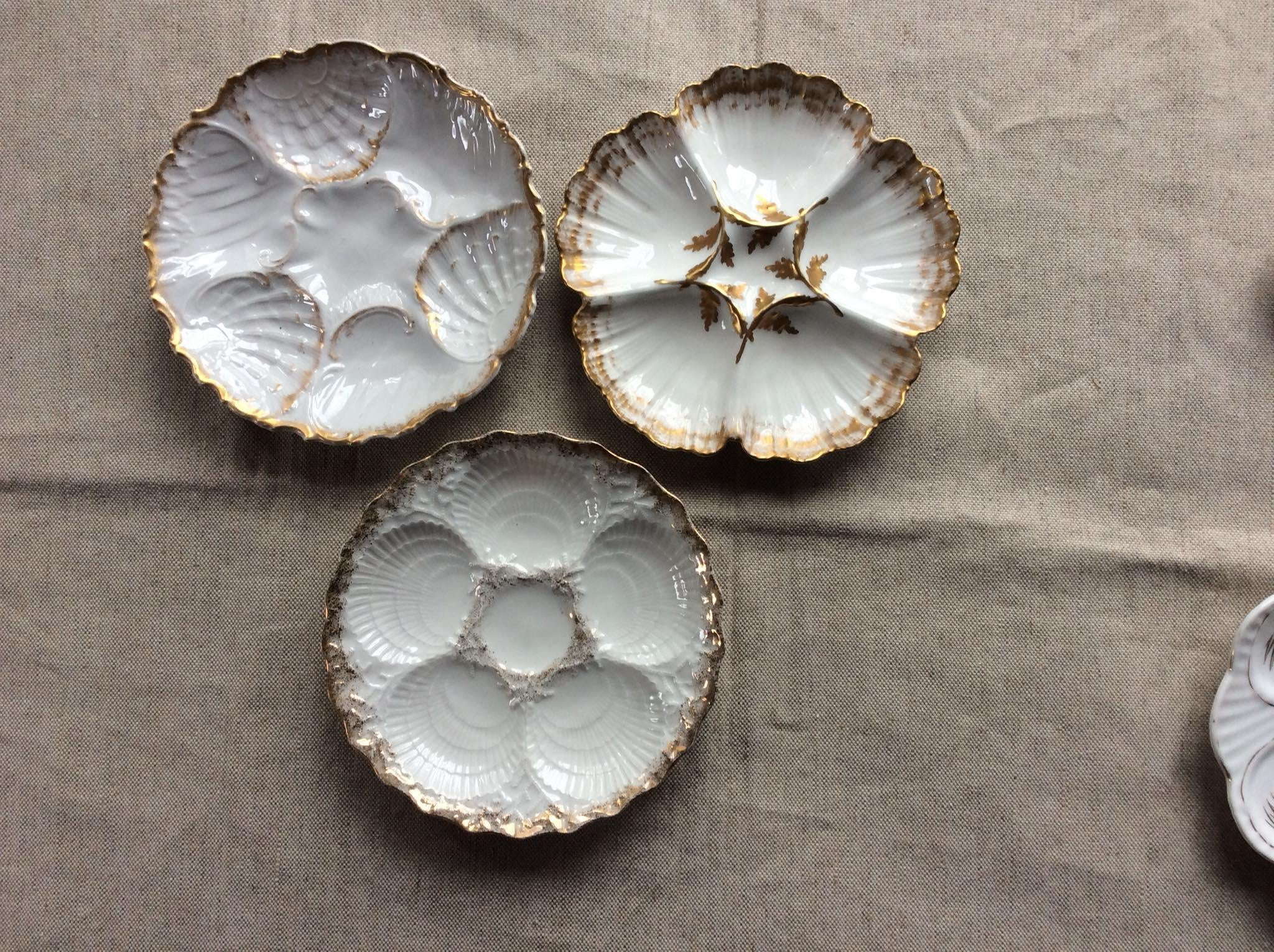 Collection of Antique French Oyster Plates - Set of 5 - Image 4 of 11  sc 1 st  Chairish & Collection of Antique French Oyster Plates - Set of 5 | Chairish