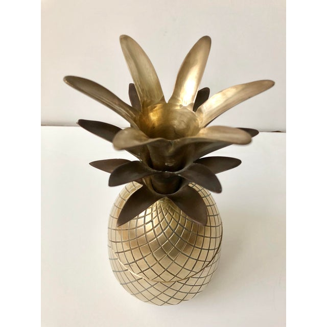 Vintage Brass Pineapple For Sale - Image 4 of 9