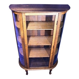 Antique Victorian Oak Display Cabinet Preview