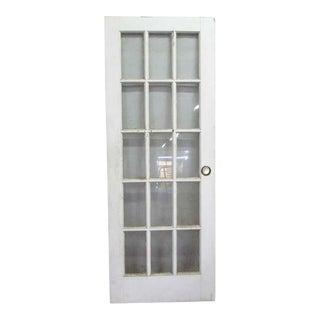 White Glass Paneled French Door