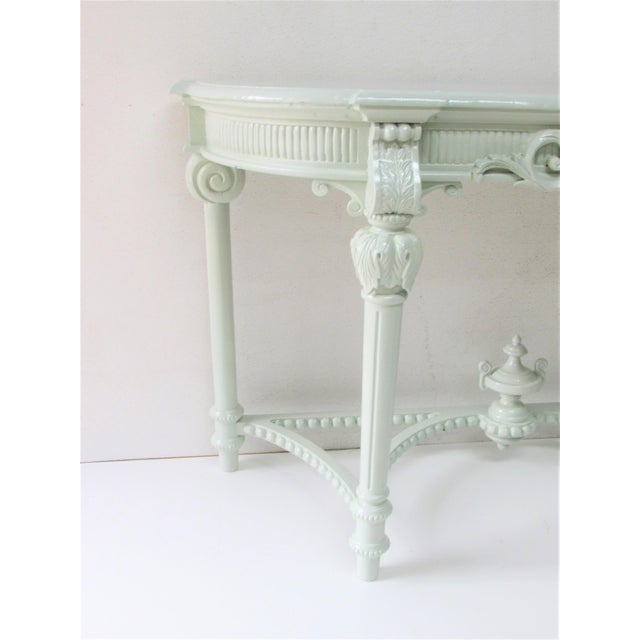 French Louis XV Style Lacquered Console Table For Sale - Image 4 of 8