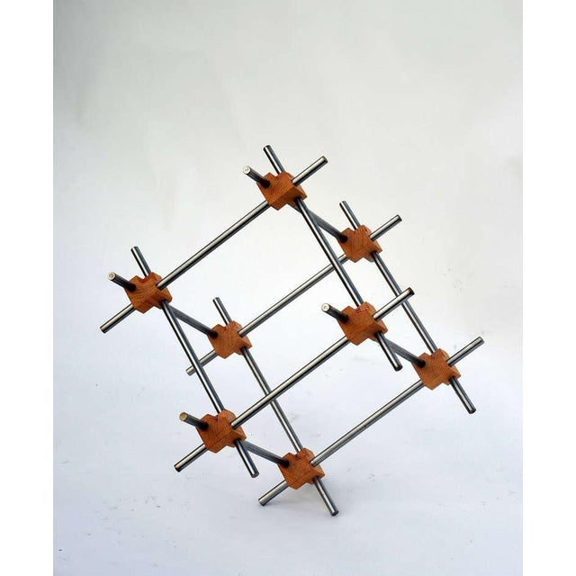 Metal Geometric Abstract Sculpture by Alex Andre For Sale - Image 7 of 7