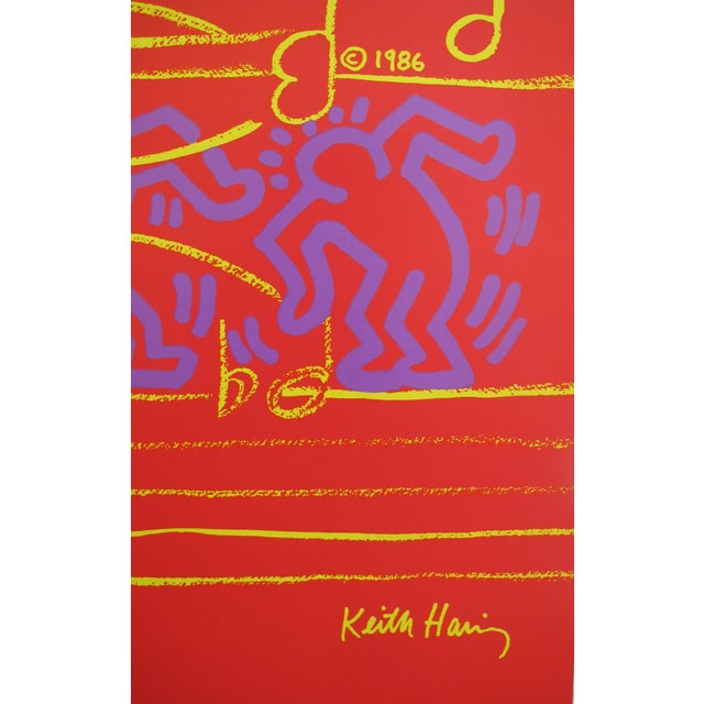 Keith Haring 1986 Montreux Jazz Festival Poster, Keith Haring and Andy Warhol For Sale - Image 4 of 5