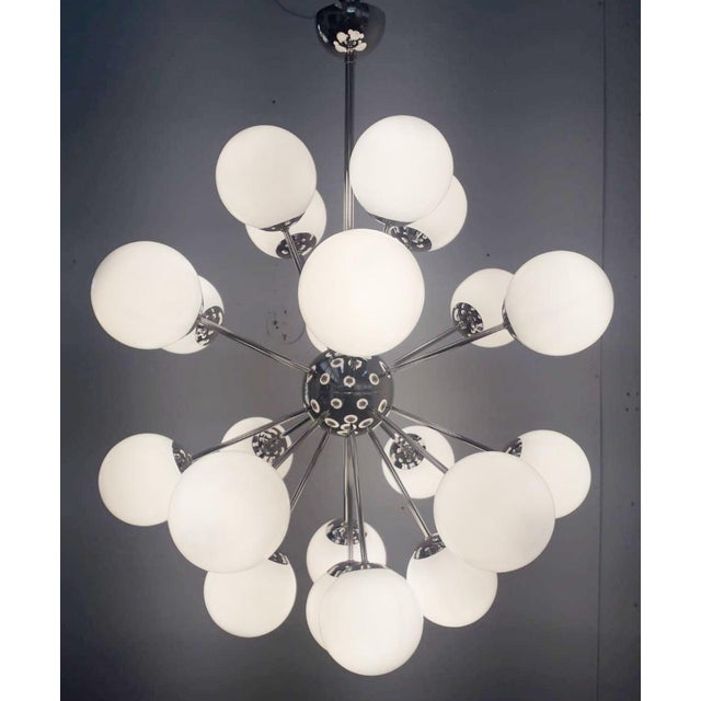 Italian Nova Sputnik Chandelier by Fabio Ltd For Sale - Image 3 of 9