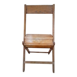 1940s Rustic Snyder Chair Co. Wood Folding Chair