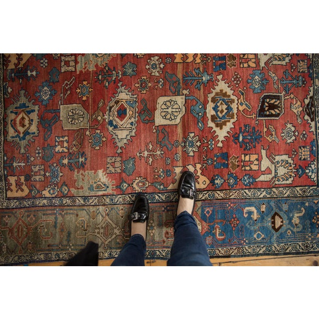"Textile Vintage Bijar Rug - 4'10"" X 7' For Sale - Image 7 of 13"