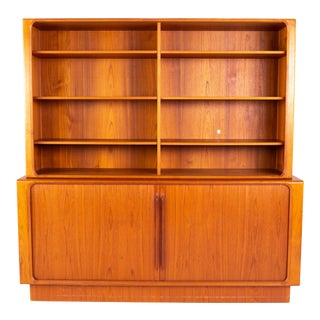1960s Mid Century Bernhardt Pederson Teak China Cabinet For Sale