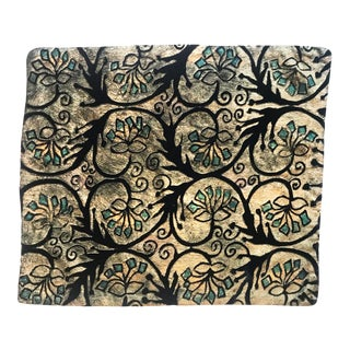 Emerald Flower Silk Velvet Pillow Cover For Sale