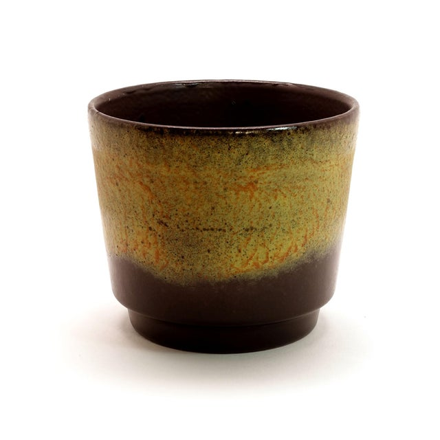 1970s Vintage West German Fat Lava Glazed Ceramic Pottery Planter For Sale In New York - Image 6 of 6