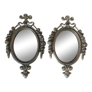 Vintage Small Italian Mirrors - a Pair For Sale