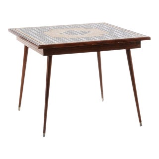 Mid-Century Modern Mosaic Tile Top Table