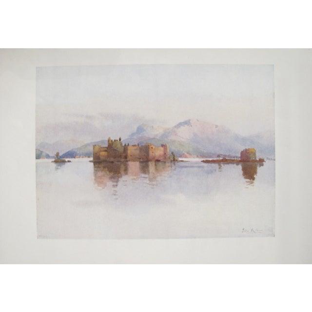 Art Nouveau 1905 Original Italian Print - Italian Travel Colour Plate - Cannero, Lago Maggiore For Sale - Image 3 of 3
