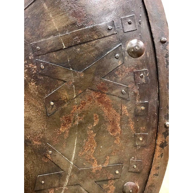 Large French Antique Metal Wall Clock Face For Sale - Image 4 of 6