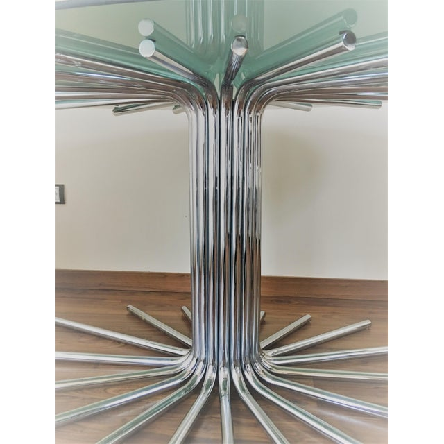 Mid-Century Chrome Starburst Dining Table For Sale - Image 9 of 12