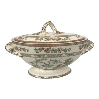 Antique Copeland Chinoiserie Tureen For Sale