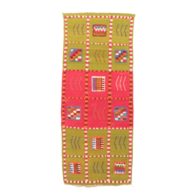 """Aknif Moroccan Runner Rug - 1'11"""" x 4'11"""" For Sale"""