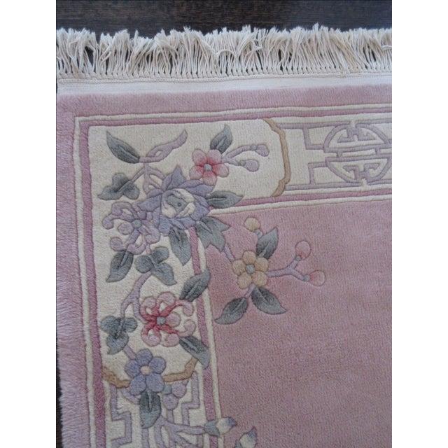 Asian Pink & White Runner Rug - 3′6″ × 6′6″ - Image 7 of 10
