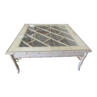 Chippendale Faux Bamboo Coffee Table For Sale